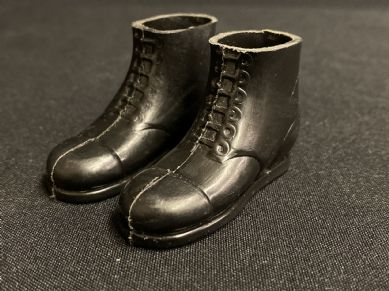 VINTAGE ACTION MAN -  Early 70's BLACK SOLDIER BOOTS